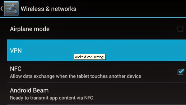 Cara setting dan Menggunakan VPN Di Android d