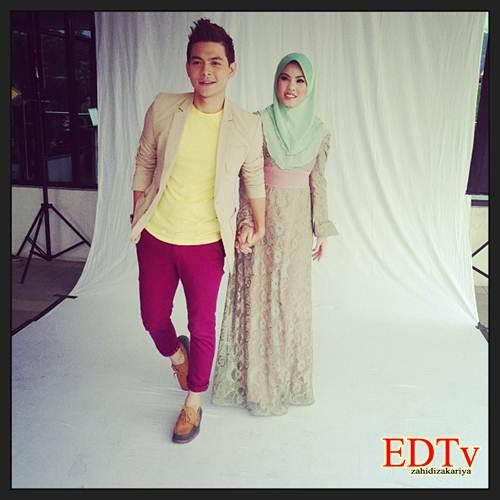 Gambar Izzue Islam dan Tiz Zaqyah dalam drama Sebenarnya Saya Isteri