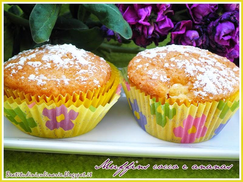 muffins cocco e ananas