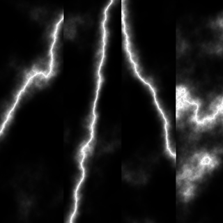 Lightning Bolts in Four Directions