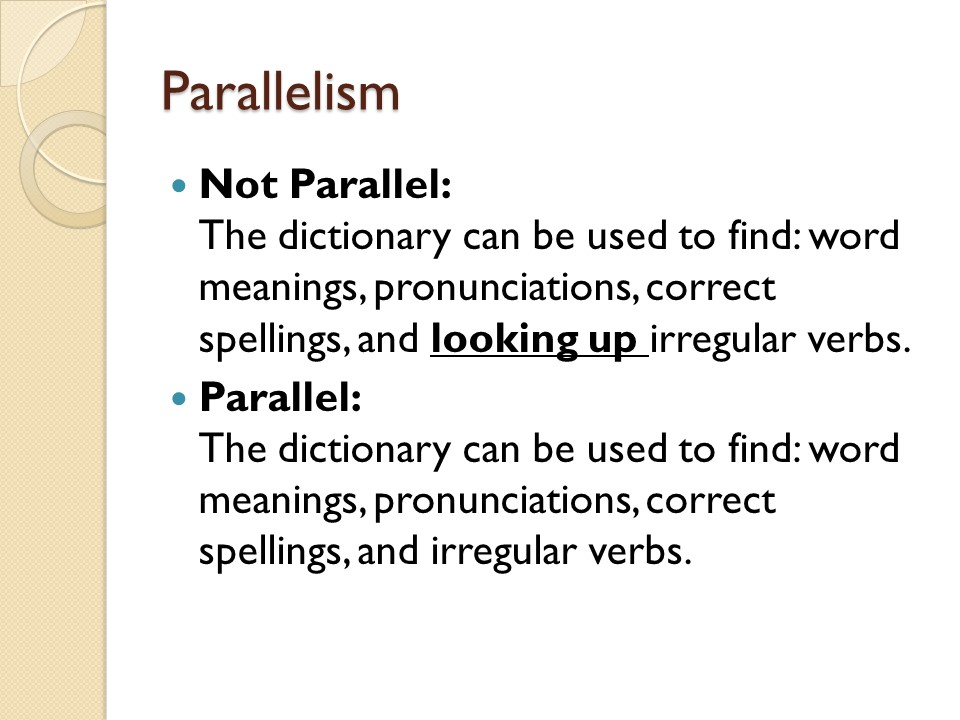 Writing Is Painless – Parallelism Worksheet