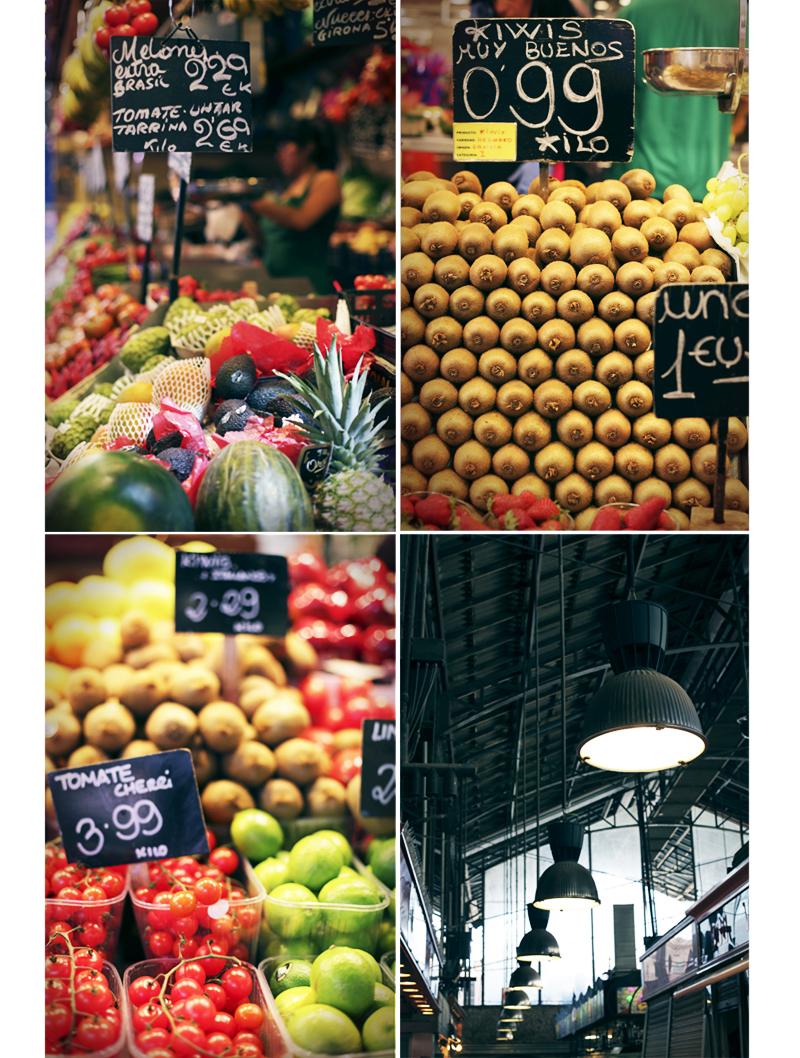 étals de fruits Boqueria de Barcelona