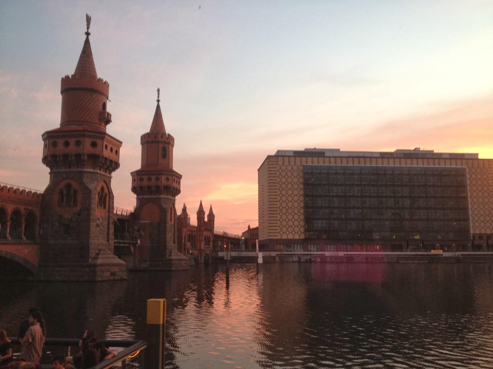 Sunrise at Oberbaumbrucke in Berlin