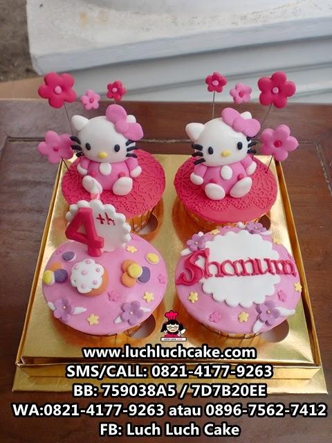 Cupcake Hello Kitty Pink Daerah Surabaya - Sidoarjo