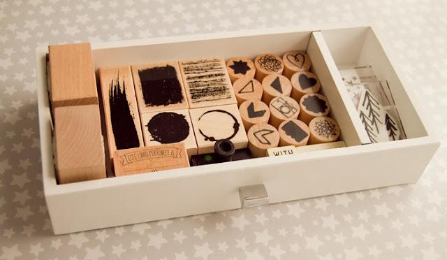 Organizador sellos Scrapbook