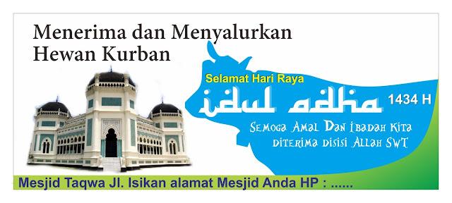 download spanduk hewan kurban idul adha 1434 h