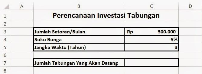 Menghitung Investasi dengan Excel