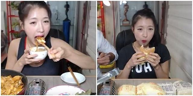 Wanita Korea Makan dalam Porsi Besar dan Ditonton Ribuan Orang