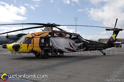 MH-60L Ángel de la Fuerza Aérea Colombiana.