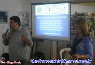 Profª Eliana e Prof. Juracy falando sobre suas propostas