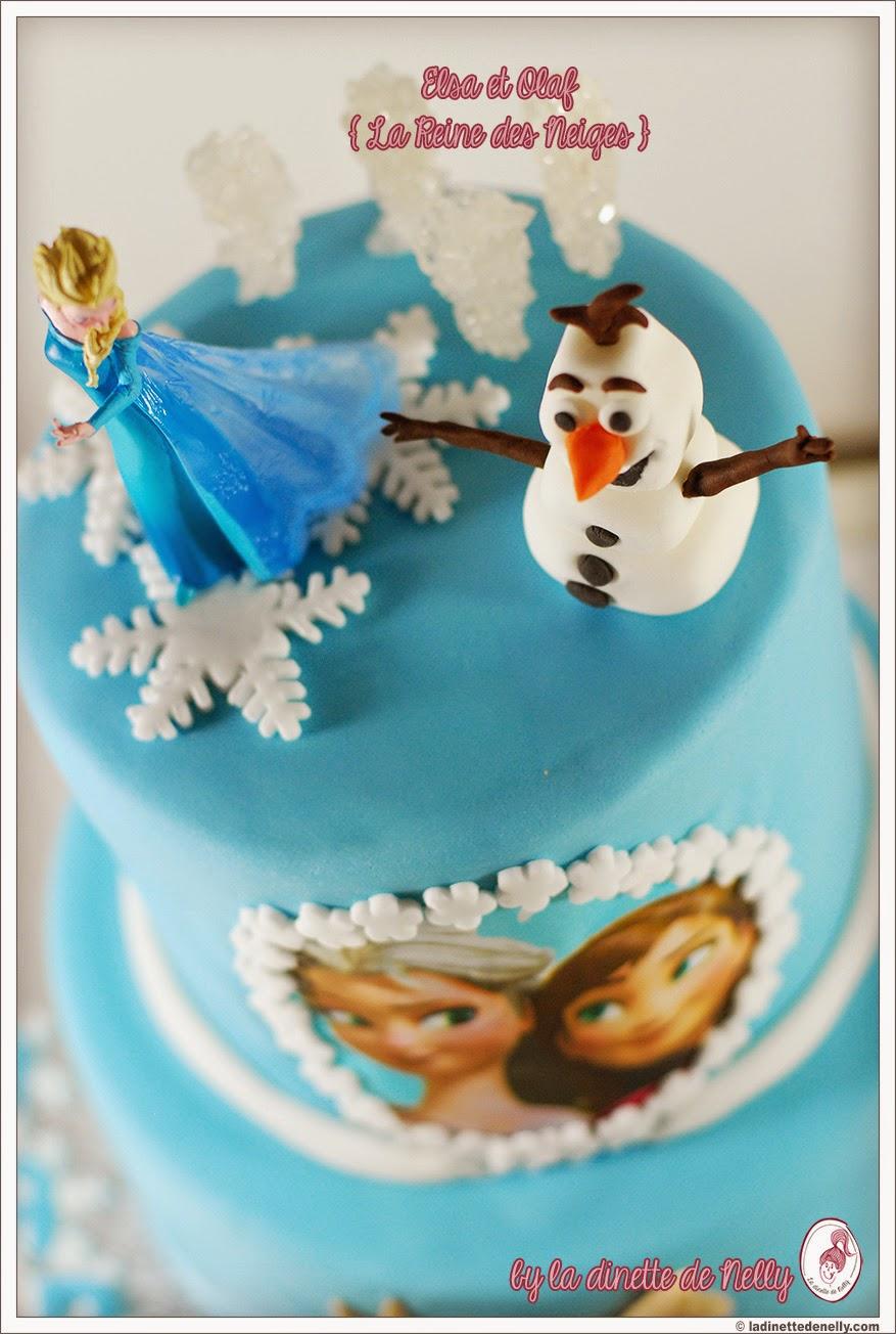 Bevorzugt La Dinette de Nelly: Gâteau Reine des neiges / Frozen {Daphné a 6 ans} IF93