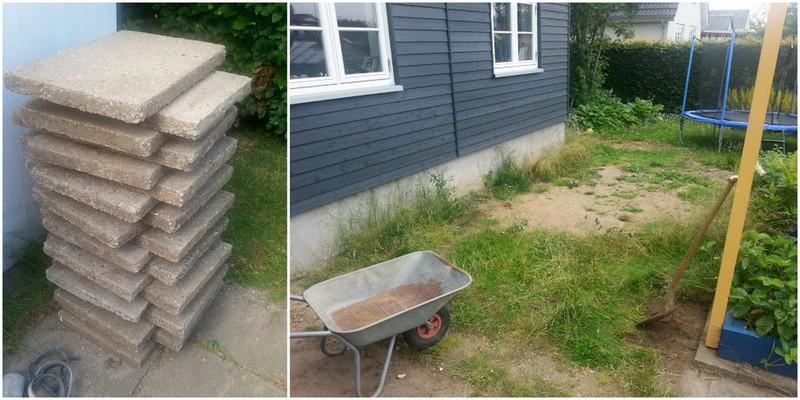 Lægning af terrasse