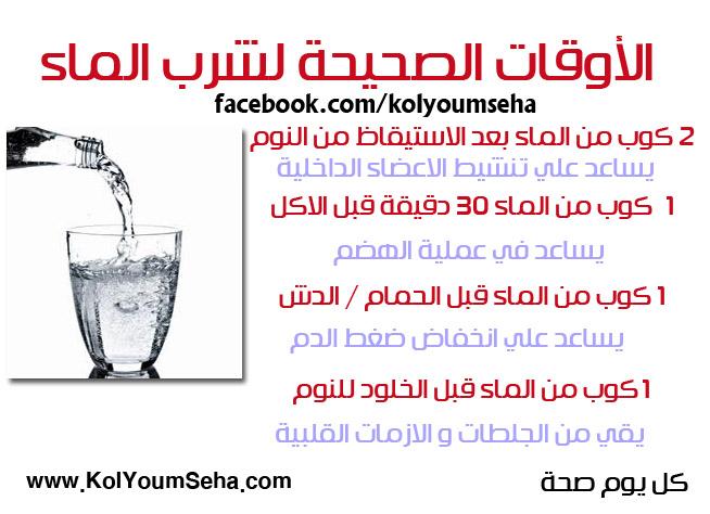 ما هو الوقت الصحيح لشرب الماء؟