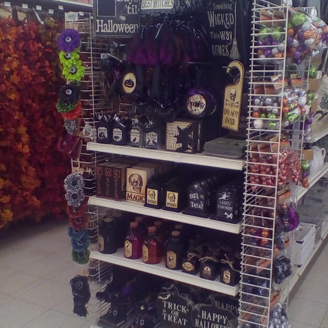signs garlands decorative bottles etc from the decor sections and ribbons stickers and the like in the craft aisles - Michaels Halloween Decorations