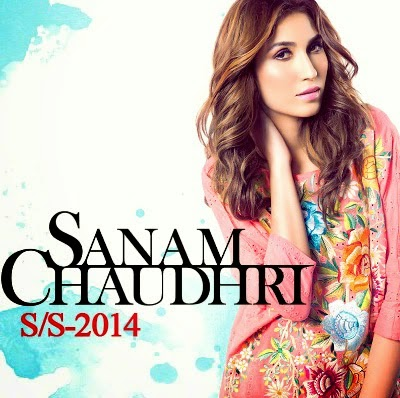 Sanam Chaudhri Spring Summer Dresses 2014 for Women