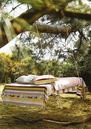 Mueblesdepalets.net: El mueble más original! la cama columpio...
