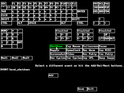 dosbox key mapping