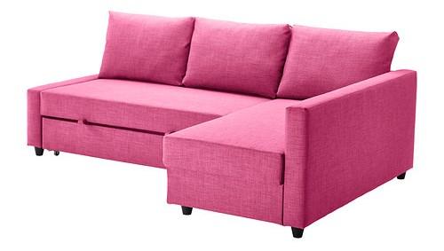 Rosa dr mmar friheten h rnb ddsoffa fr n ikea for Ikea sofa rosa