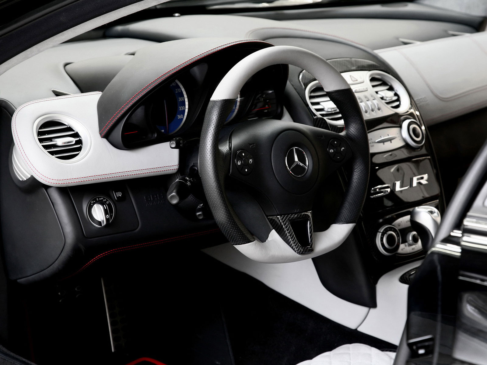 mercedes mclaren interior. with nappaleather carbonparts a new steering wheel and stepped alcantara detailed red stitchings the mercedes mc laren slr 722 has become more mclaren interior