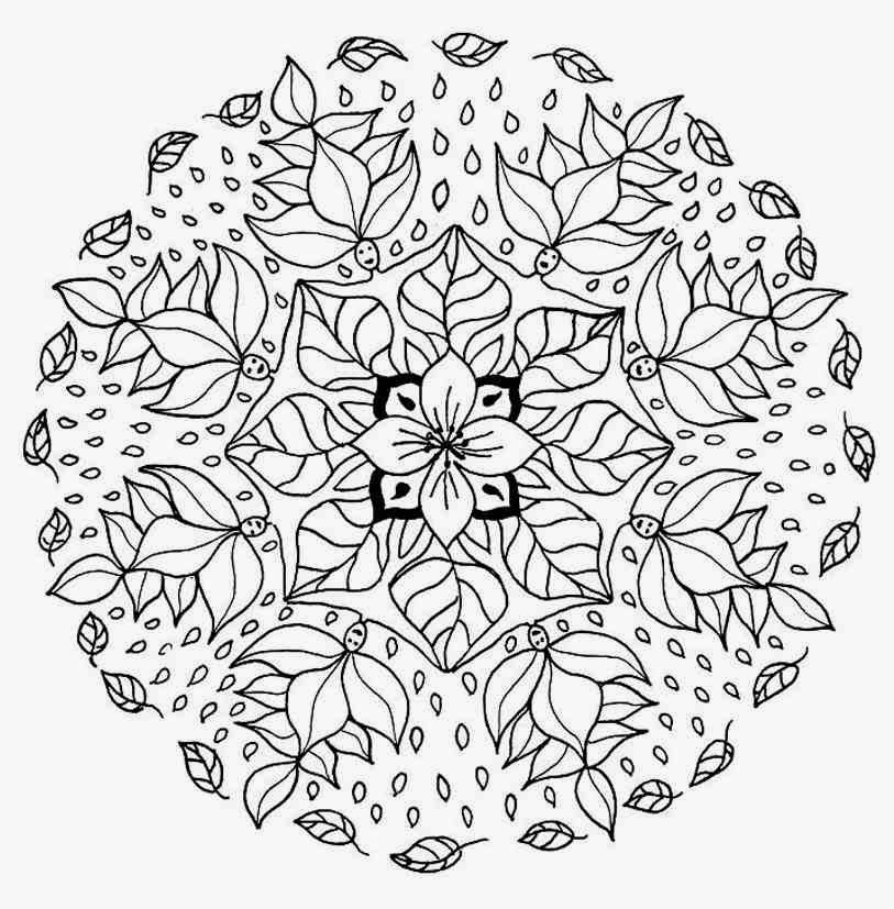 Flower Elf Mandala Coloring Pages Worksheet
