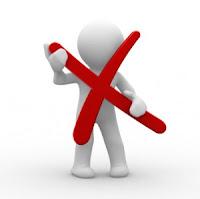 atos não aceitos em um blog profissional