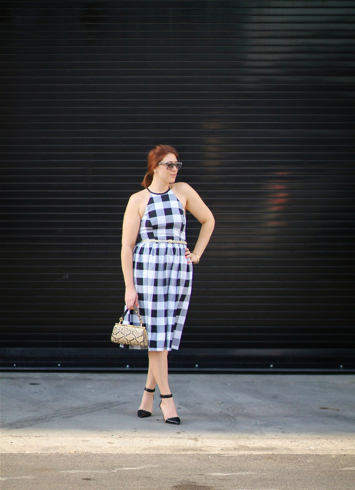gingham, asos, midi, dress