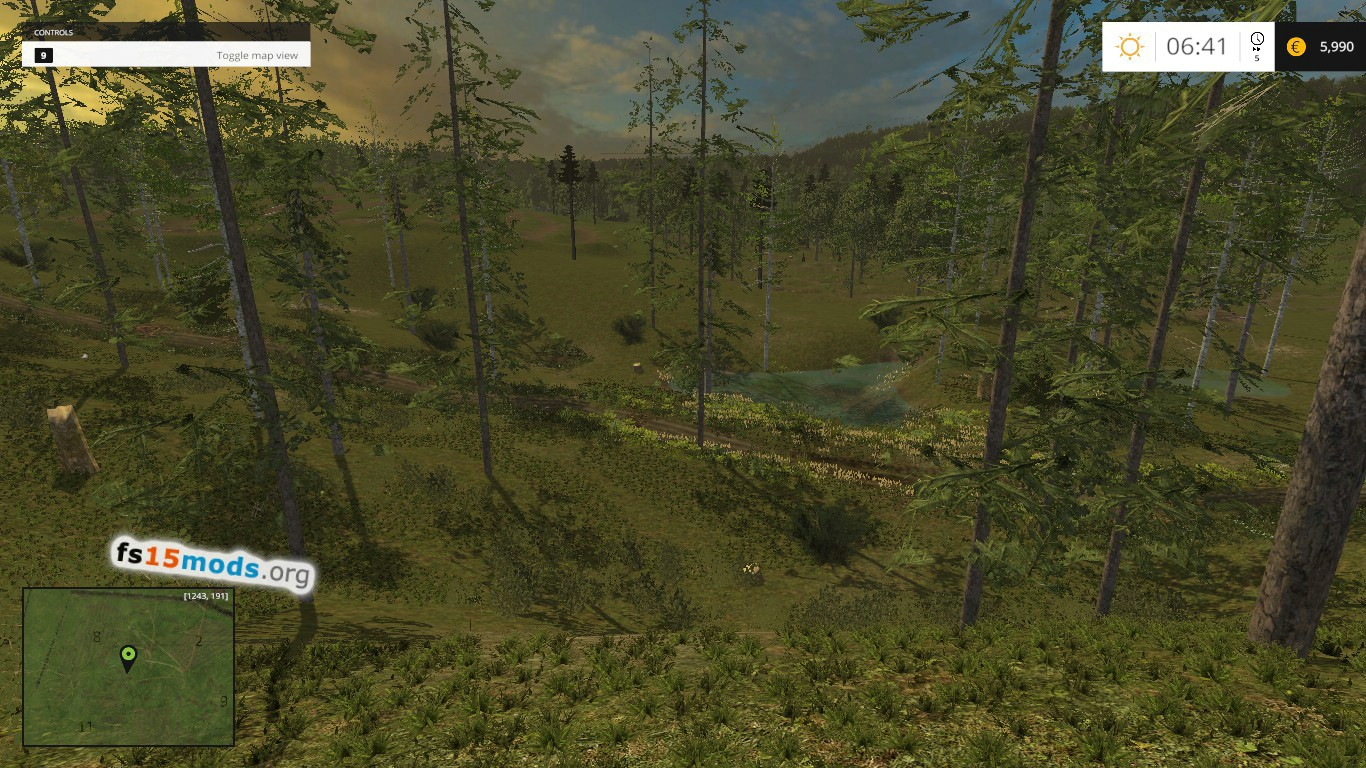 Only Forest Map Fs15 Mods