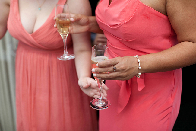 {Lillian and Leonard Wedding Photography} pink mismatched bridesmaids