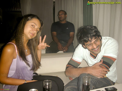 Prabhas with Trisha at Touch