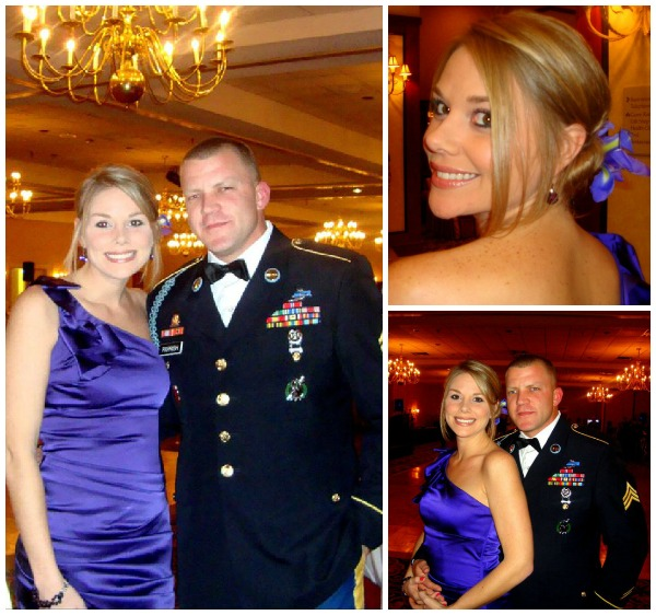dress for the army ball, military wife at the army ball, military ball, army wife dress, cheap ball gown