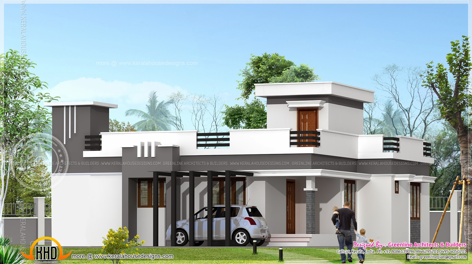 Small contemporary home in 1200 sq feet indian house plans for Small house design 1200 square feet