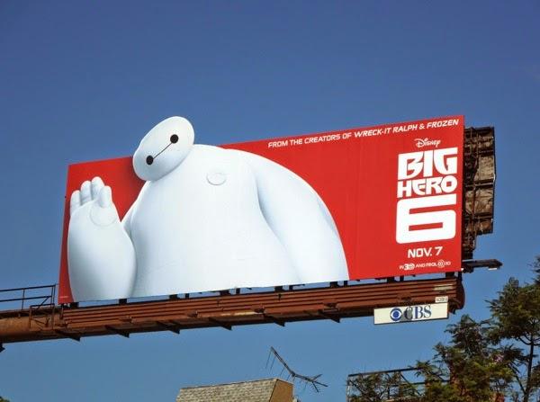 Baymax waving Big Hero 6 movie billboard