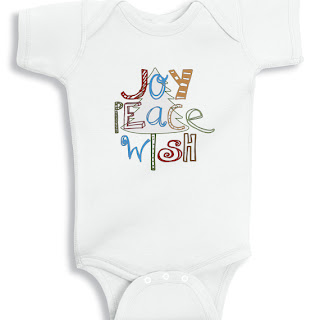 Joy Peace Wish Christmas baby Onesie