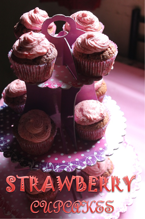 : Strawberry Cupcakes Recipe / Strawberry Cupcakes with Strawberry ...