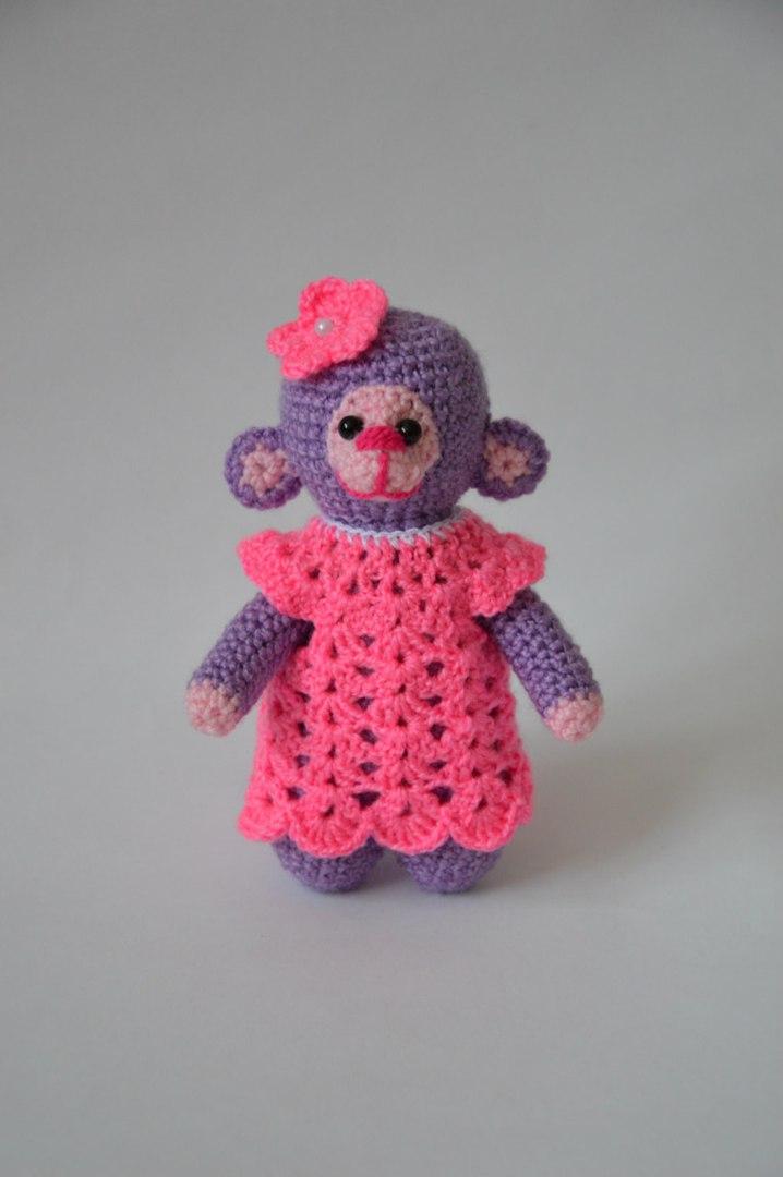Вязание обезьянки бони 27