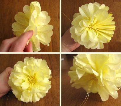 Цветы из салфеток своими руками к 8 марта