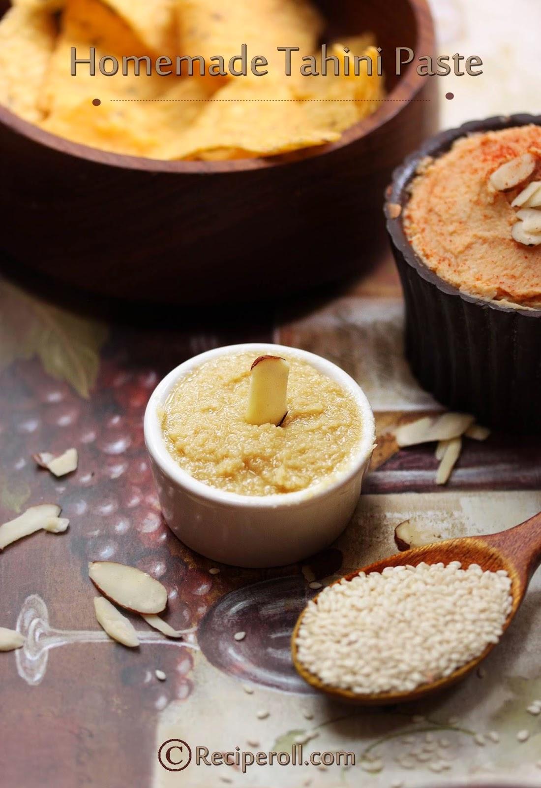 How to make Tahini Paste | Tahini paste For Hummus ~ Sankeerthanam ...