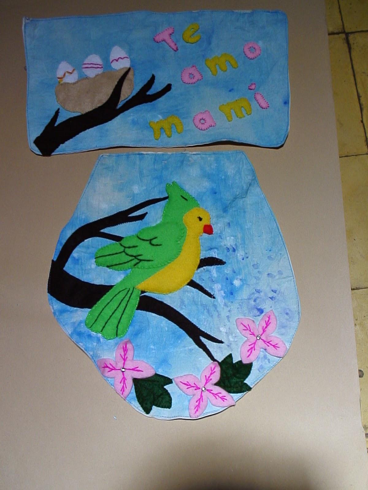 Juegos De Baño Gabys:Pintura en tela, fomi, fieltro y más: juegos de baño