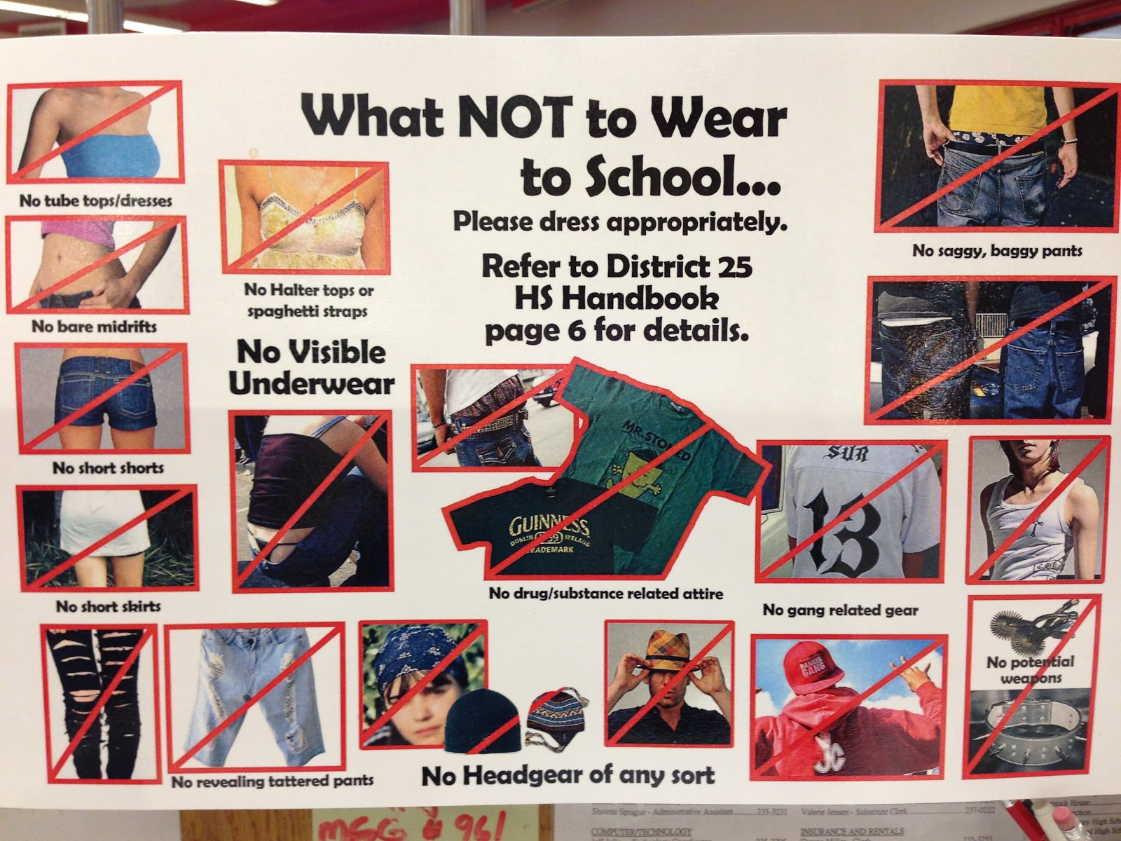 Wear not to what to school pictures