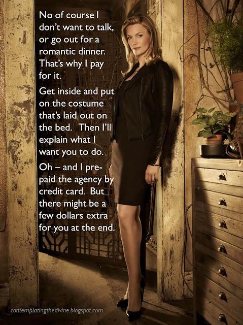 Male prostitute female client