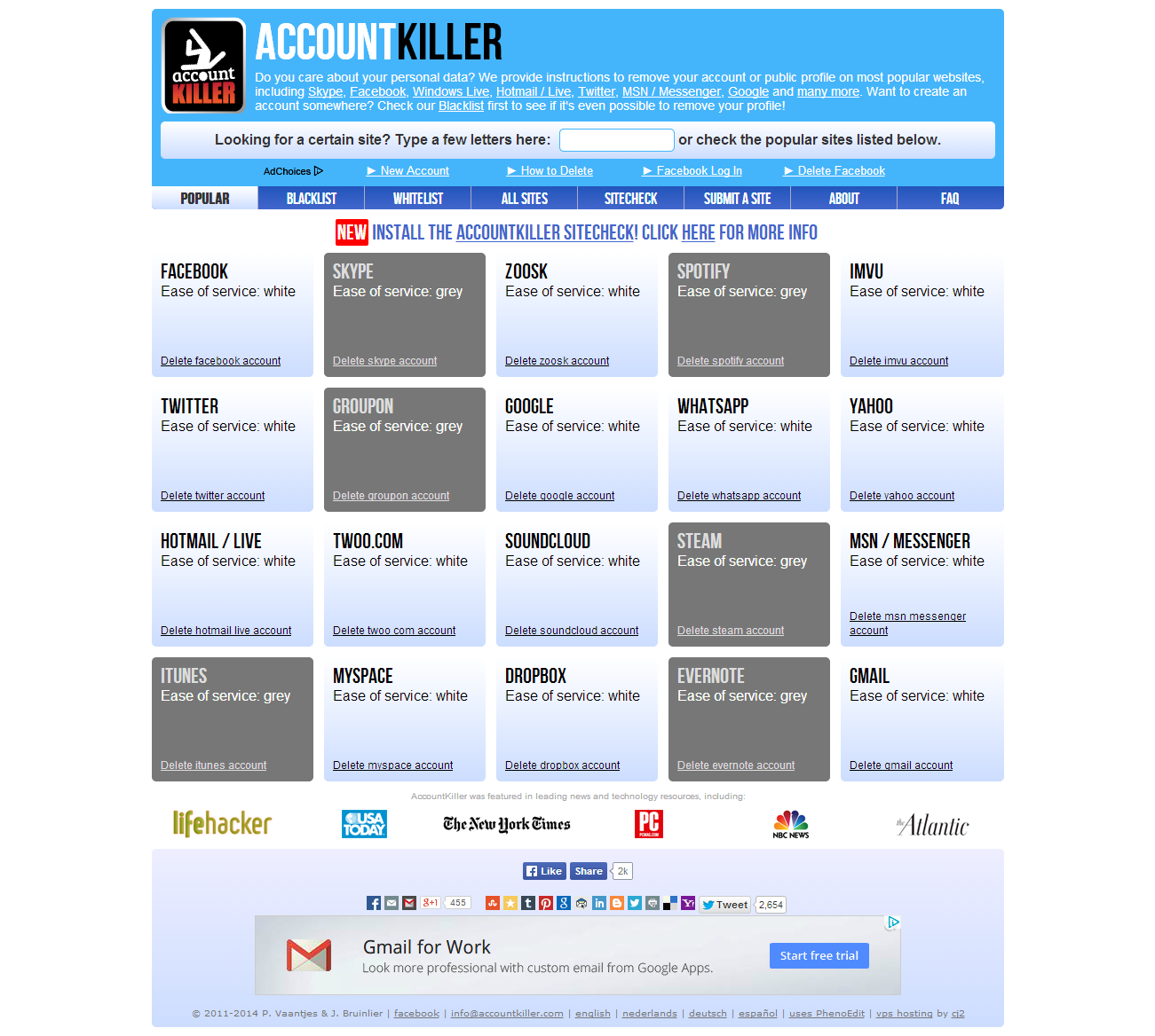 Accountkiller Make Easy To Delete Your All Social Accounts