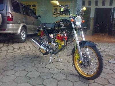 Modifikasi Honda CB dari Member CBLS Banyuwangi