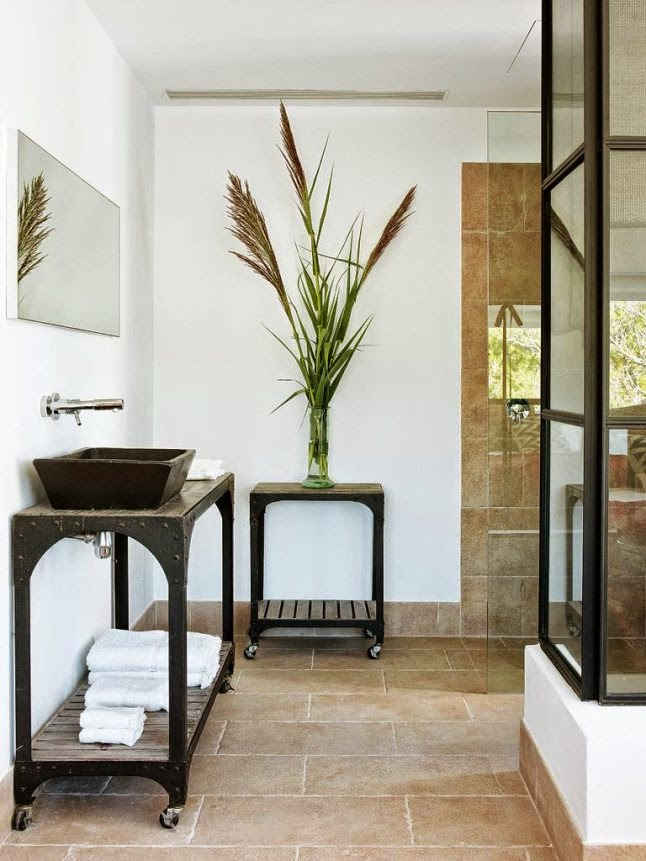 natural Spanish coastal bathroom