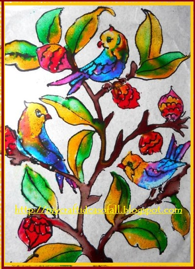 Mycraftideasofall glass painting for Mural glass painting