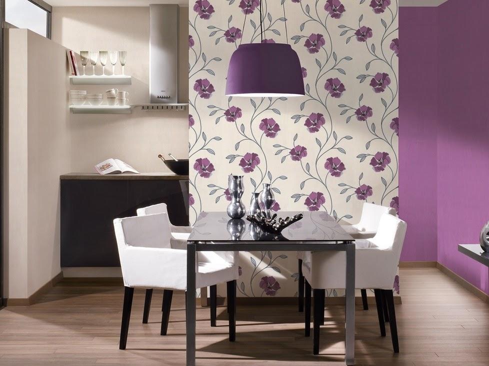 Dise os de comedores en tonos morados colores en casa for Tapiz para sillas comedor