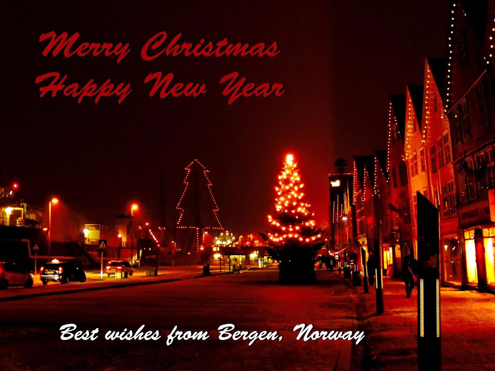 Merry Christmas from Bergen - Bergen Hordaland Norway
