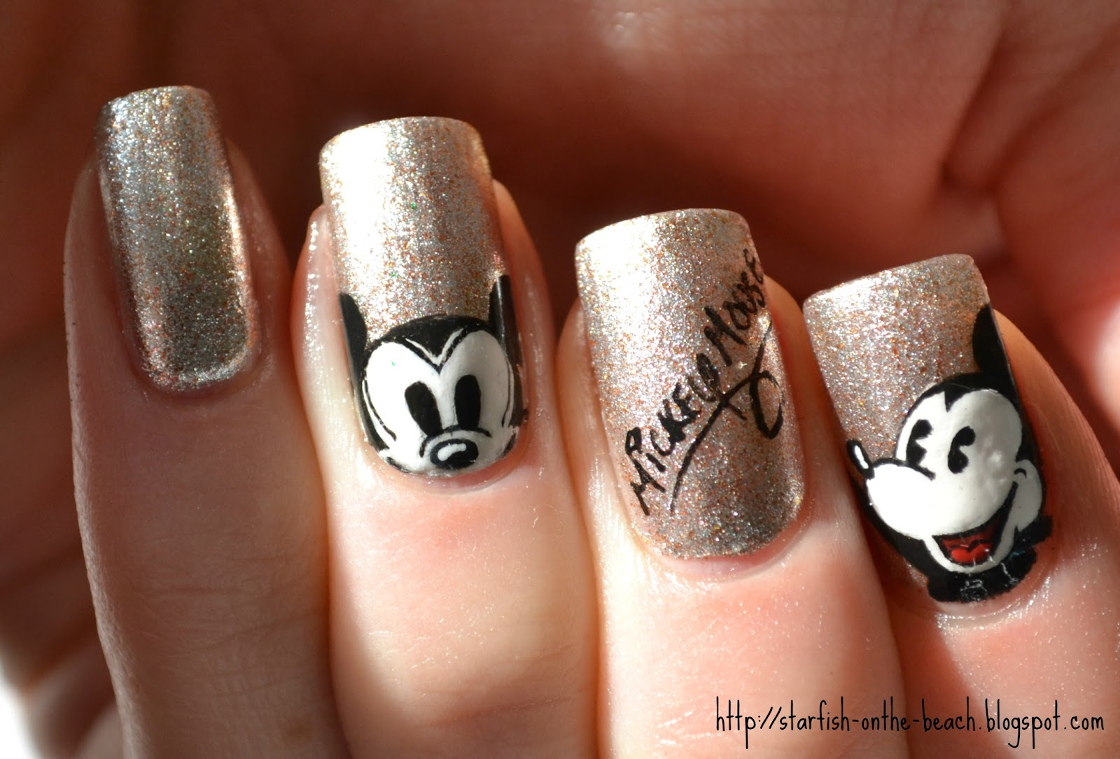Disney Mickey Mouse Nail Art Design