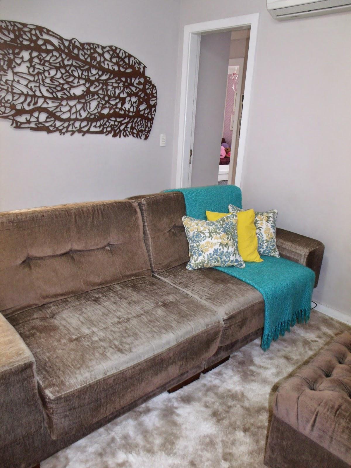 Sala de estar azul turquesa e amarelo - Azul turquesa pared ...