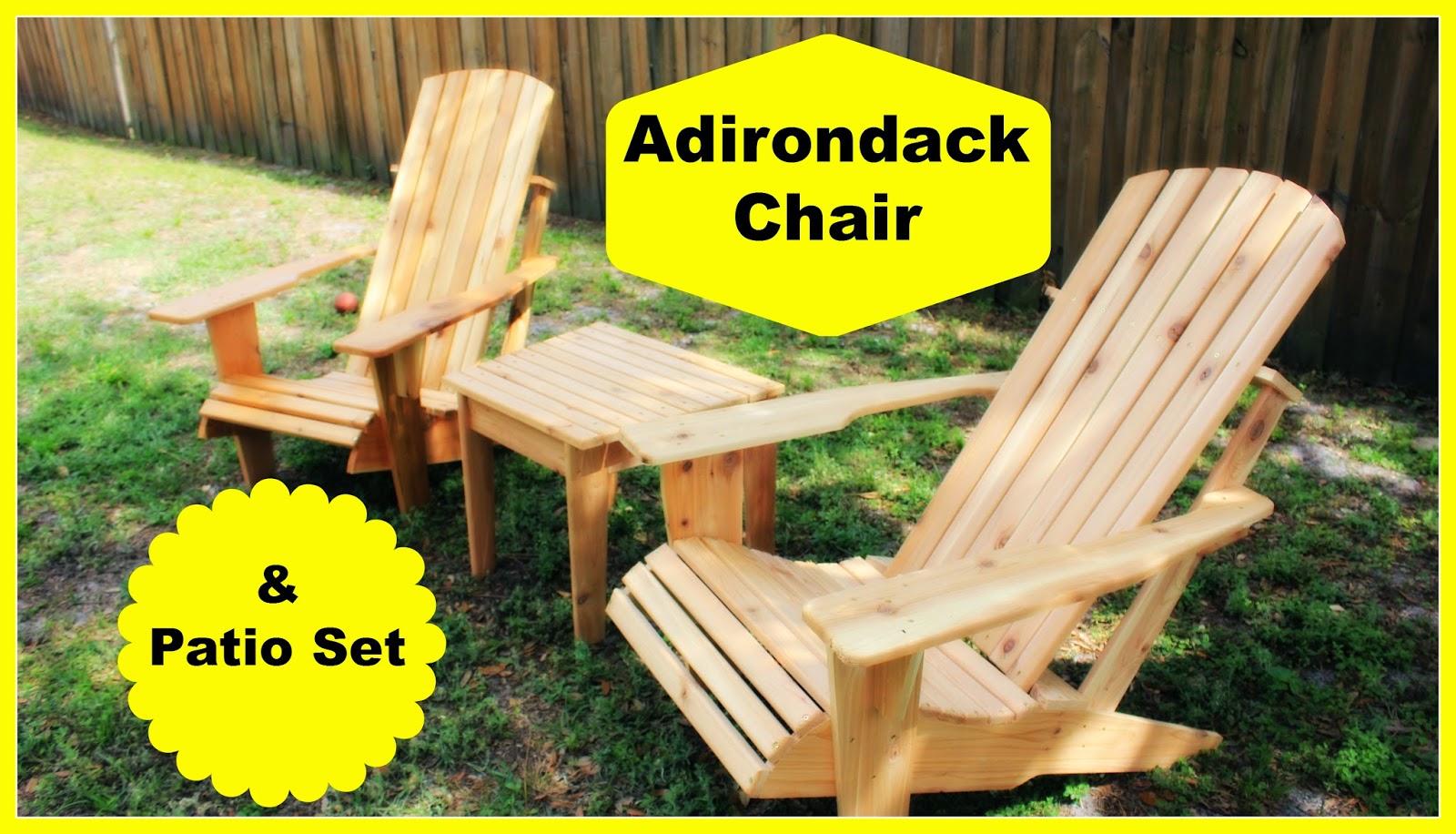 Cedar Adirondack Chair and Patio Set Part 2