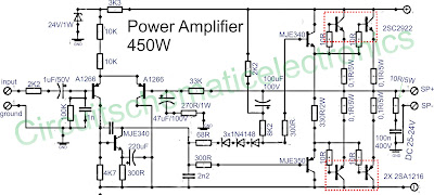 450W <a href='http://www.circuitlab.org/search/label/amplifier' title='amplifier circuits'>amplifier</a> schematics
